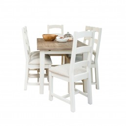 Cottingham 140cm Ext Dining Table & 6 Upholstered Seat Dining Chairs