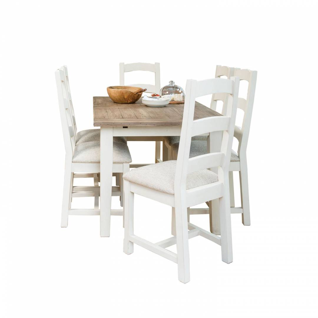 Cottingham 180cm Ext Dining Table & 6 Upholstered Seat Dining Chairs