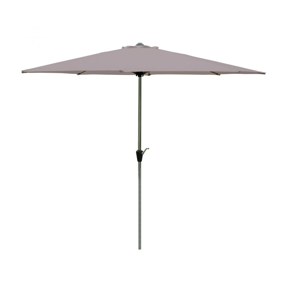 2.5m Parasol With Crank and Tilt Taupe