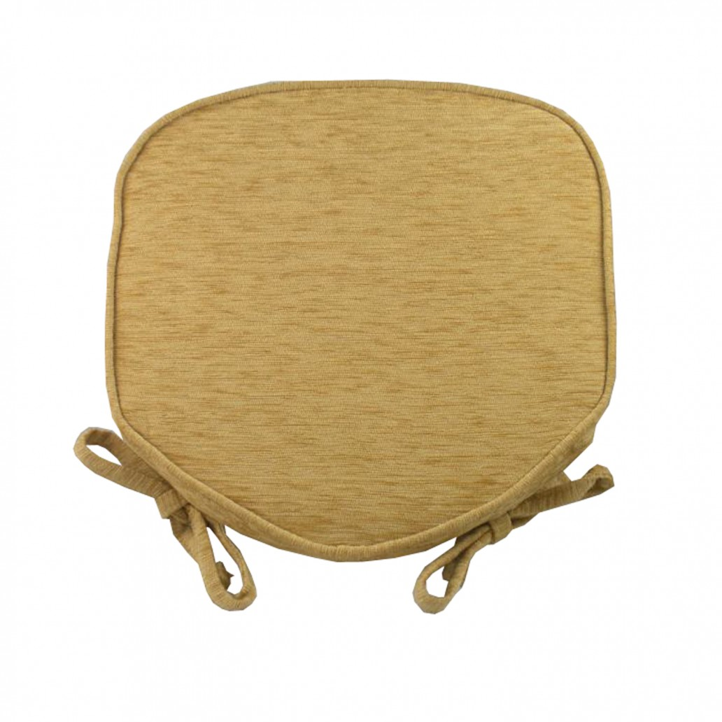 Savannah Piped Seat Pad Gold