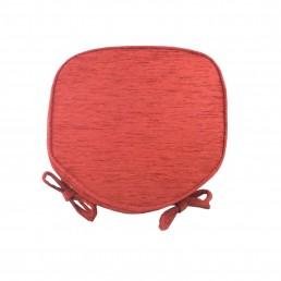 Savannah Piped Seat Pad Terracotta