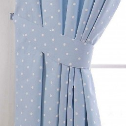 Dotty Tiebacks Powder Blue