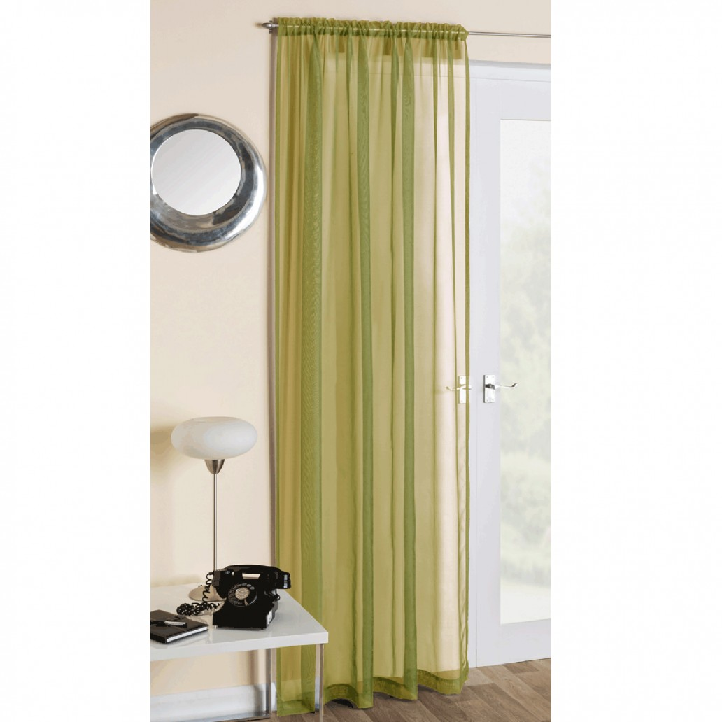 Crystal Voile Panel Moss