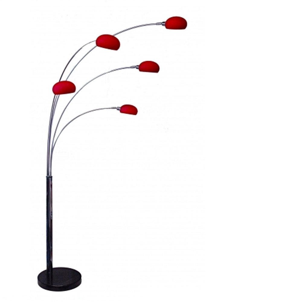 Danalight Lounge 5 Light Floor Lamp Red