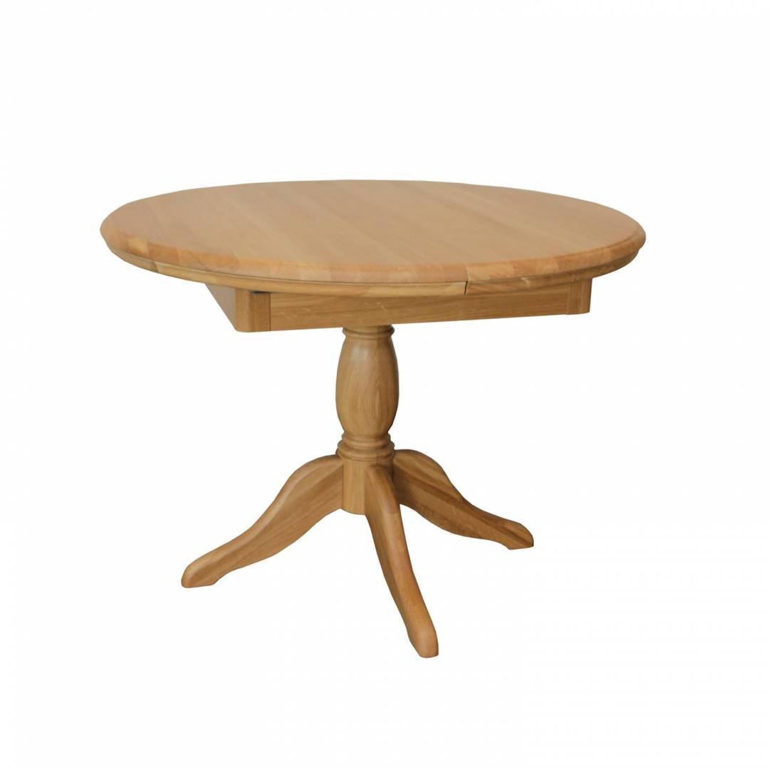 Stag Langham Round Extending Single Pedestal Dining Table