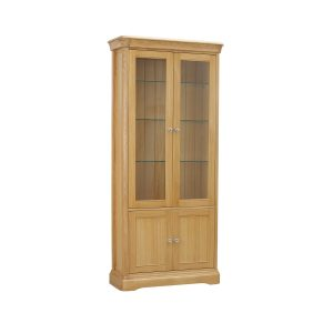 Stag Langham Glassed Bookcase With 2 Doors