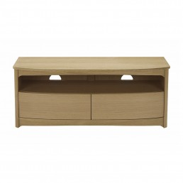 Shades Oak Shaped TV Unit With Drawers