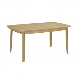 Shades Oak Extending Boat Shaped Dining Table