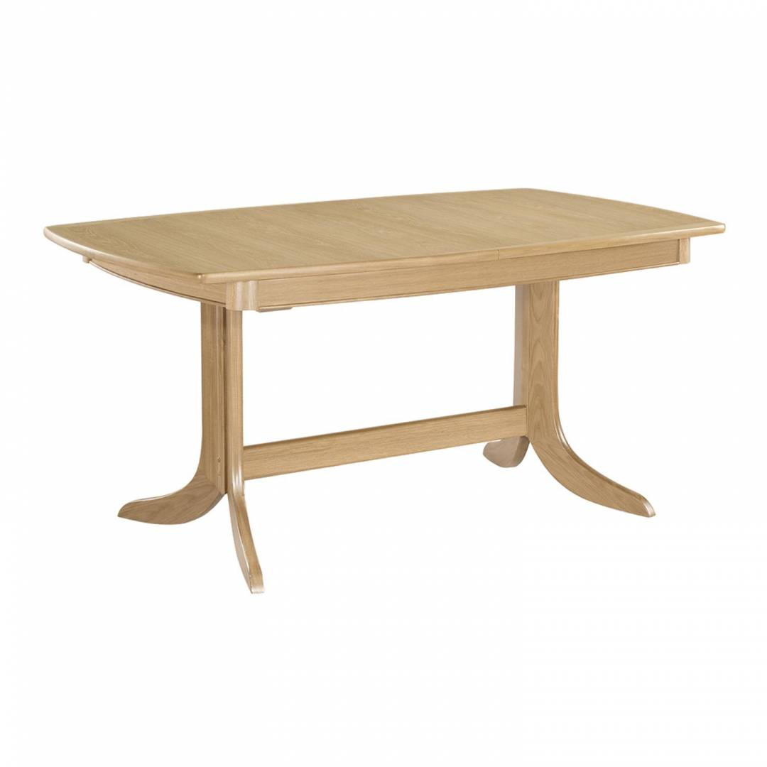 Shades Oak Extending Boat Shaped Pedestal Dining Table