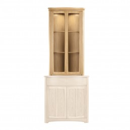 Shades Oak Shaped Corner Display Top Unit