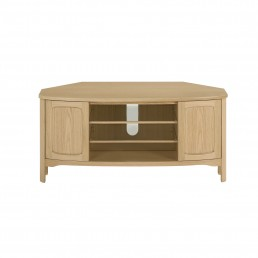 Shades Oak Shaped Corner TV Unit