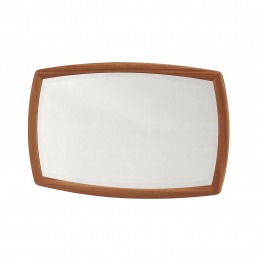 Shades Teak Shaped Wall Mirror