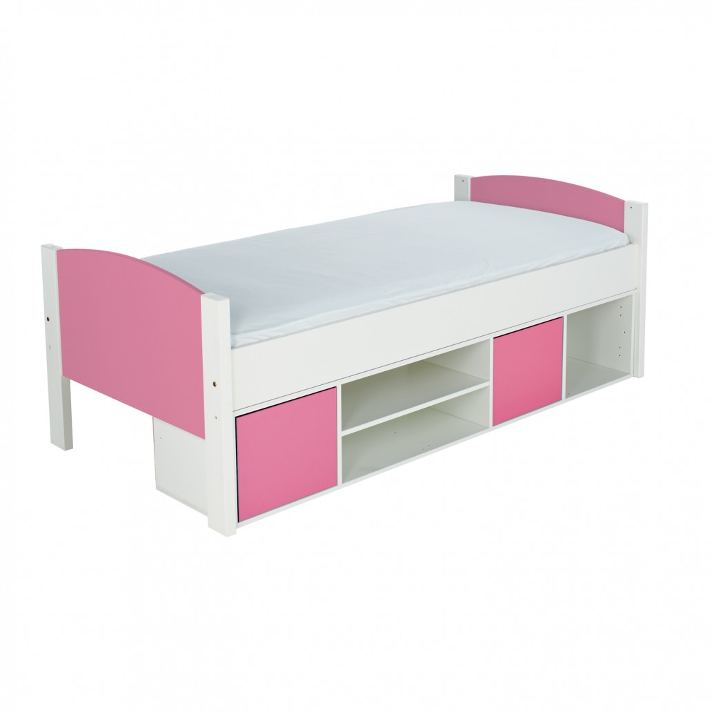 Stompa Duo Uno S Storage Cabin Bed Pink