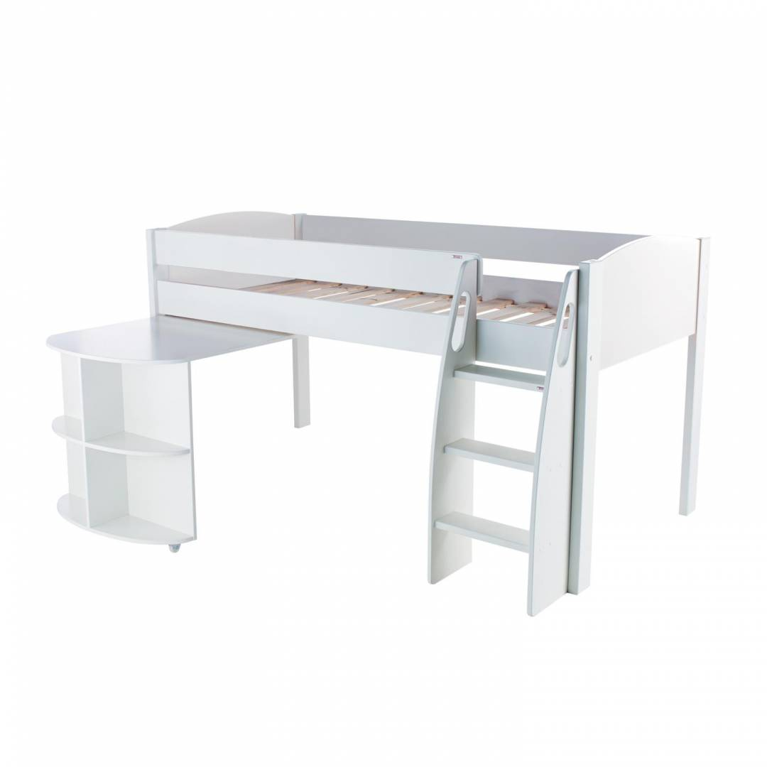 Stompa Duo Uno S Midsleeper And Pull Out Desk White