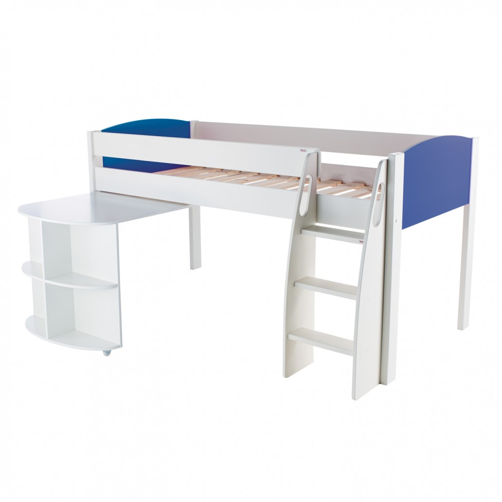 Stompa Duo Uno S Midsleeper And Pull Out Desk Blue
