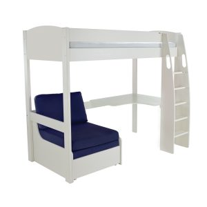 Stompa Duo Uno S Highsleeper White Including Desk And Chair Bed Blue