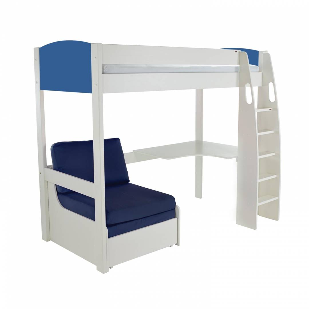Stompa Duo Uno S Highsleeper Frame Blue Including Desk and Chair Bed Blue