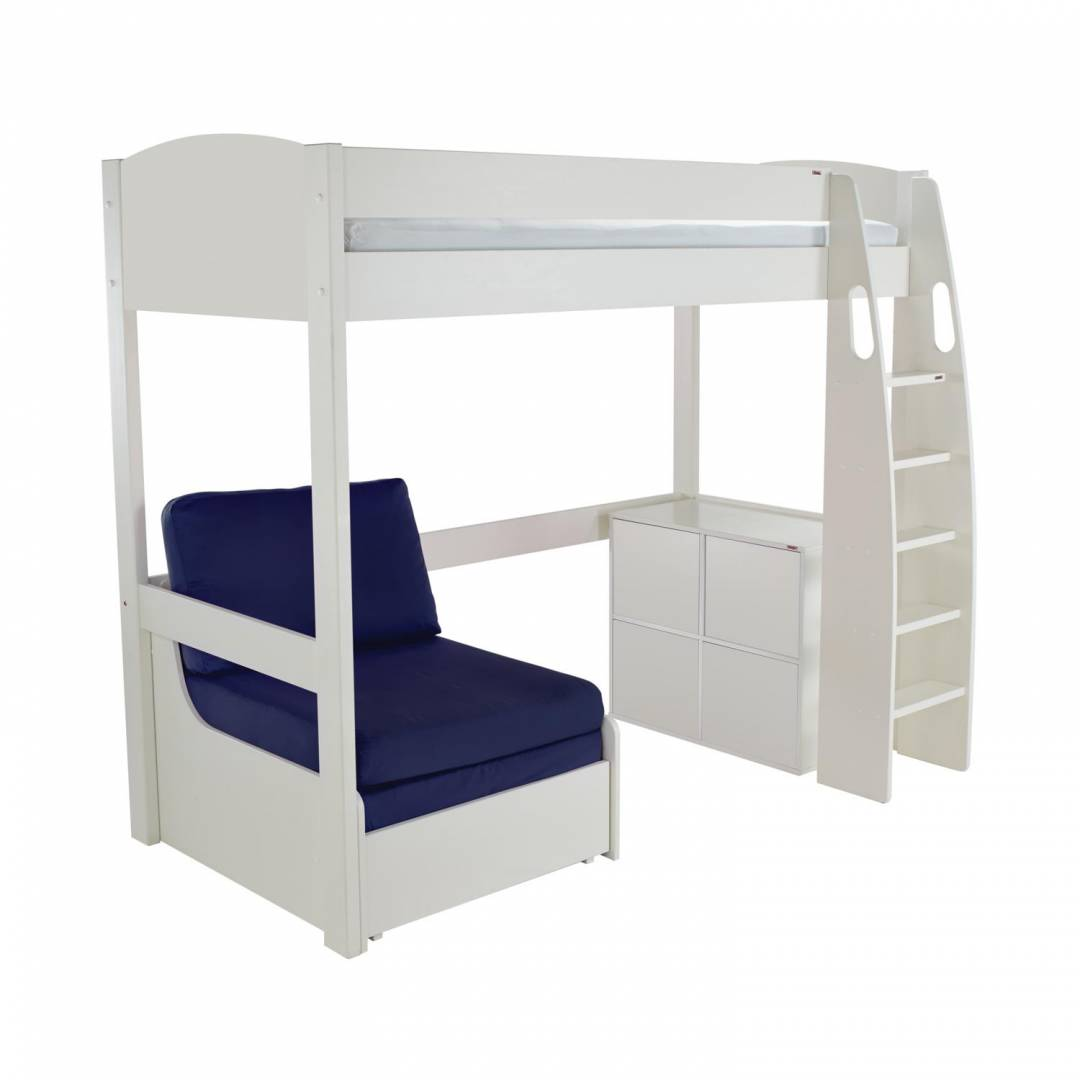 Stompa Duo Uno S Highsleeper With Cube Unit & Chair Bed Blue