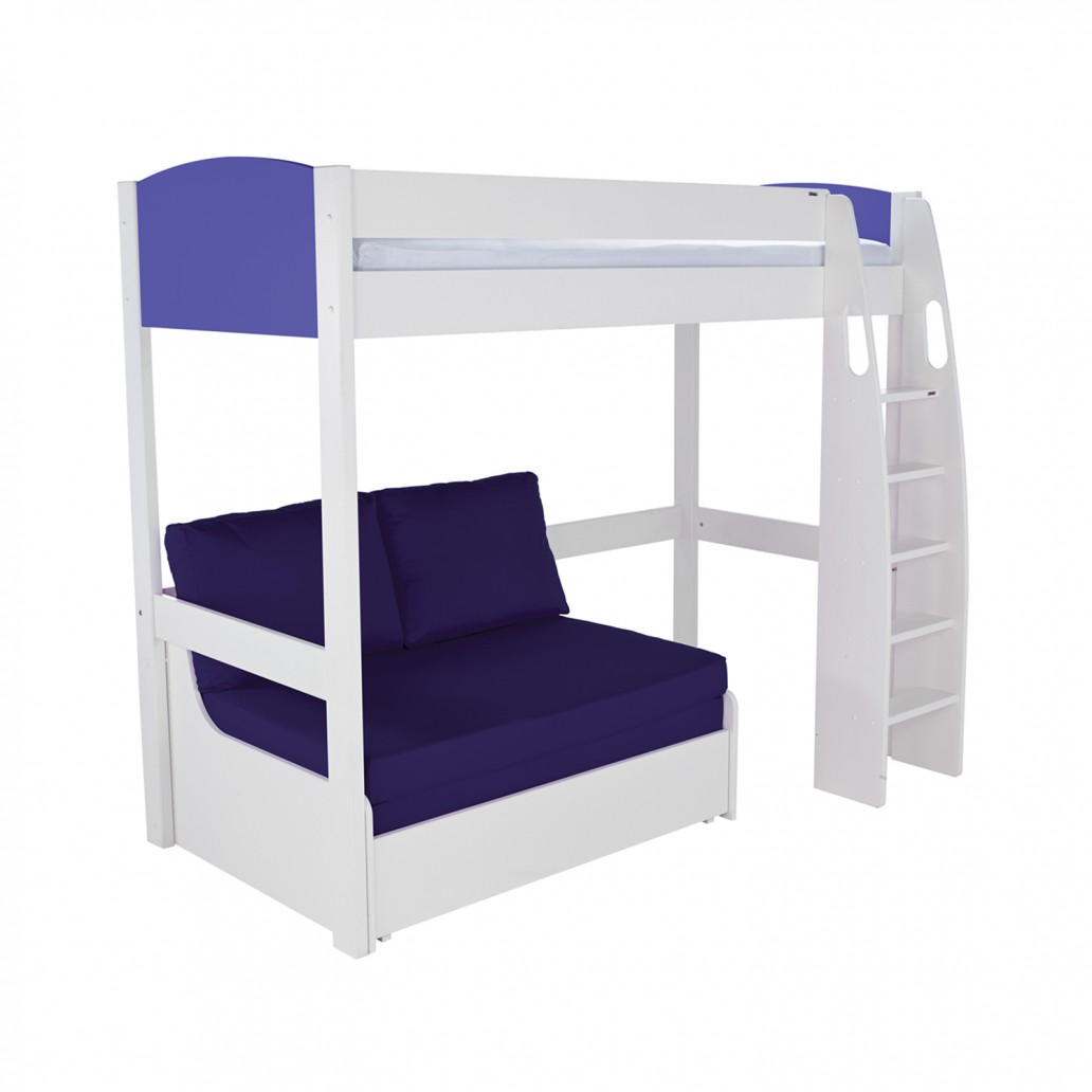 Stompa Duo Uno S Highsleeper Including Double Sofa Bed Blue