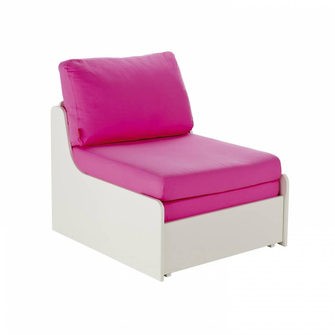 Stompa Duo Uno S Single Chair Bed Pink