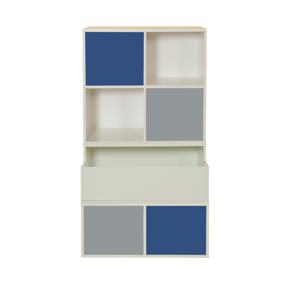 Stompa Duo Uno S Storage Bundle D3 – 2 Grey & 2 Blue Small Doors