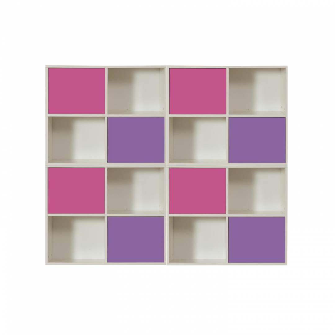 Stompa Duo Uno S Storage Bundle G2 – 4 Pink and 4 Purple Small Doors