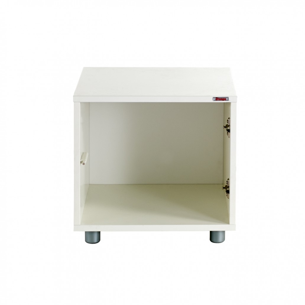 Stompa Duo Uno S Storage Single Cube Unit White
