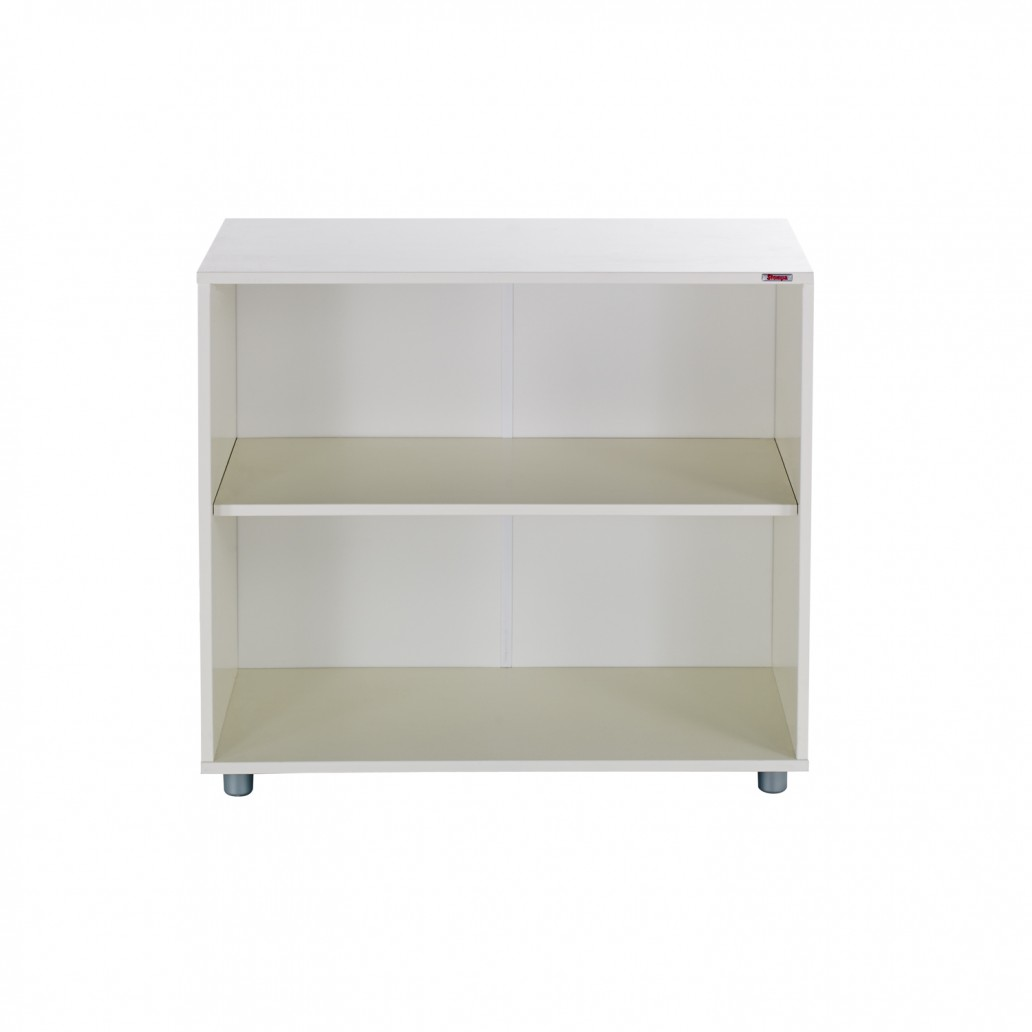 Stompa Duo Uno S Bookcase One Shelf White