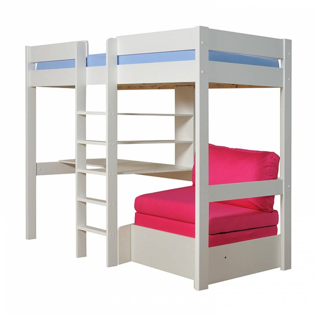Stompa High Sleeper With Red Cushion Set