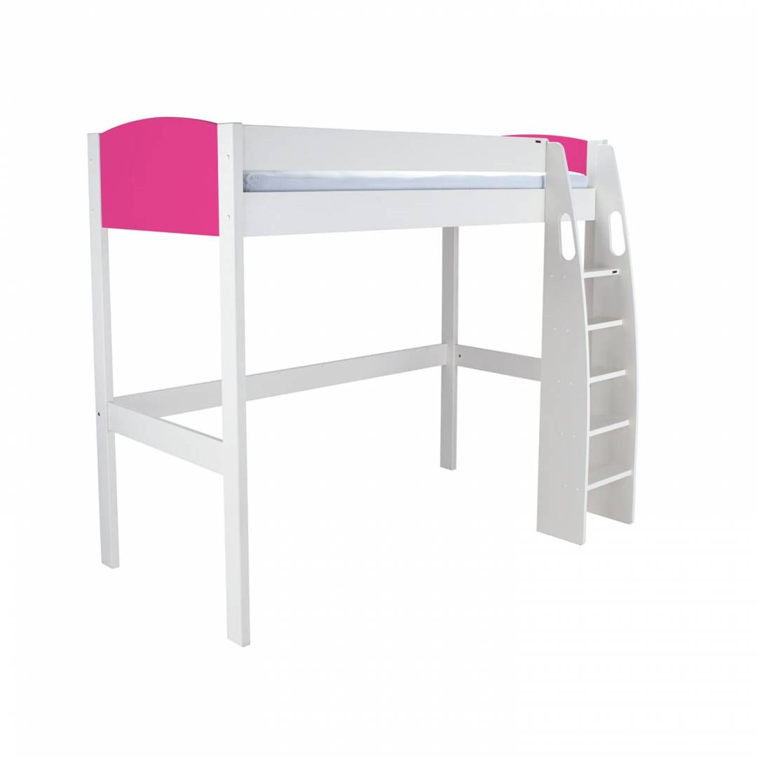 Stompa Duo Uno S Highsleeper – Pink Headboard