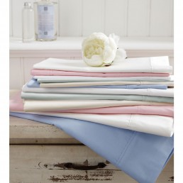 Sanderson Plain Dye Fitted Sheet White