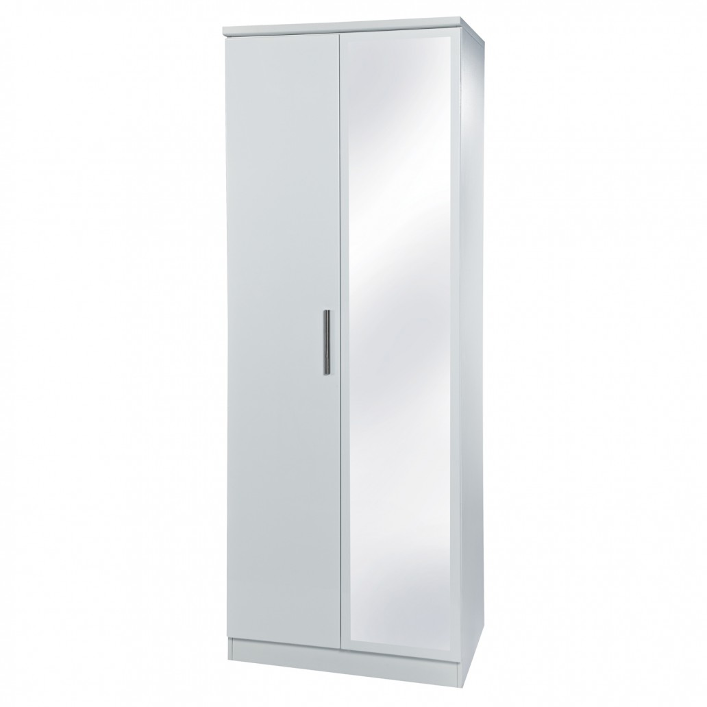 Krib Tall Mirrored Wardrobe