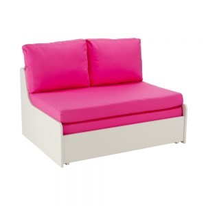 Stompa Duo Uno S Double Sofa Bed Pink
