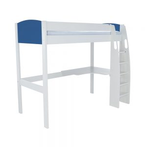 Stompa Duo Uno S Highsleeper Including Desk – Blue Headboards