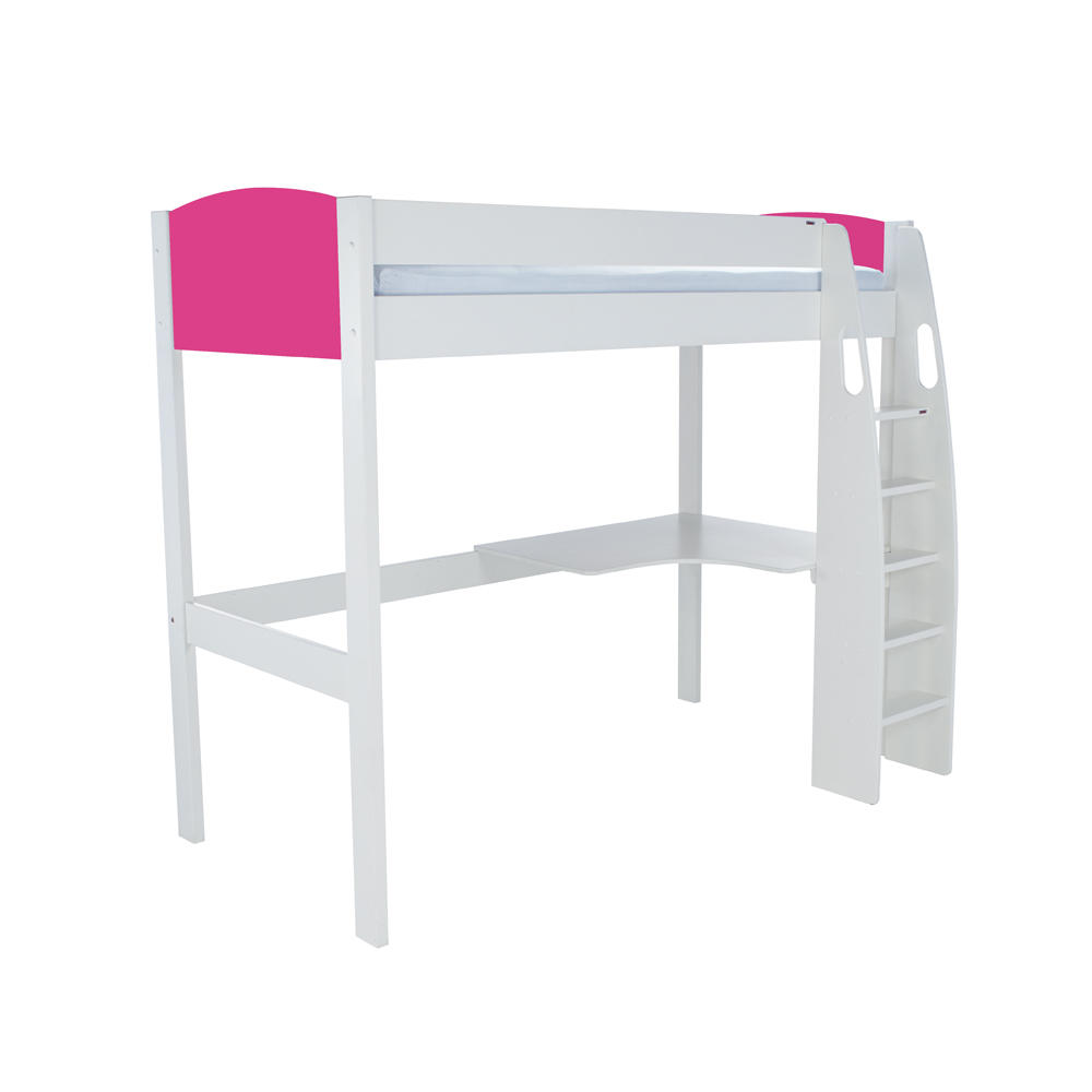 Stompa Duo Uno S Highsleeper Including Desk – Pink Headboards
