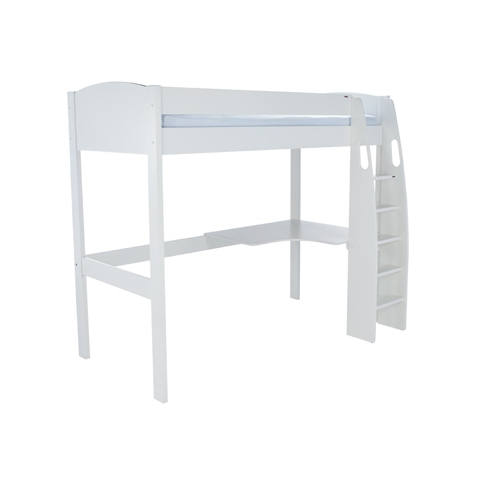 Stompa Duo Uno S Highsleeper Including Desk – White Headboards