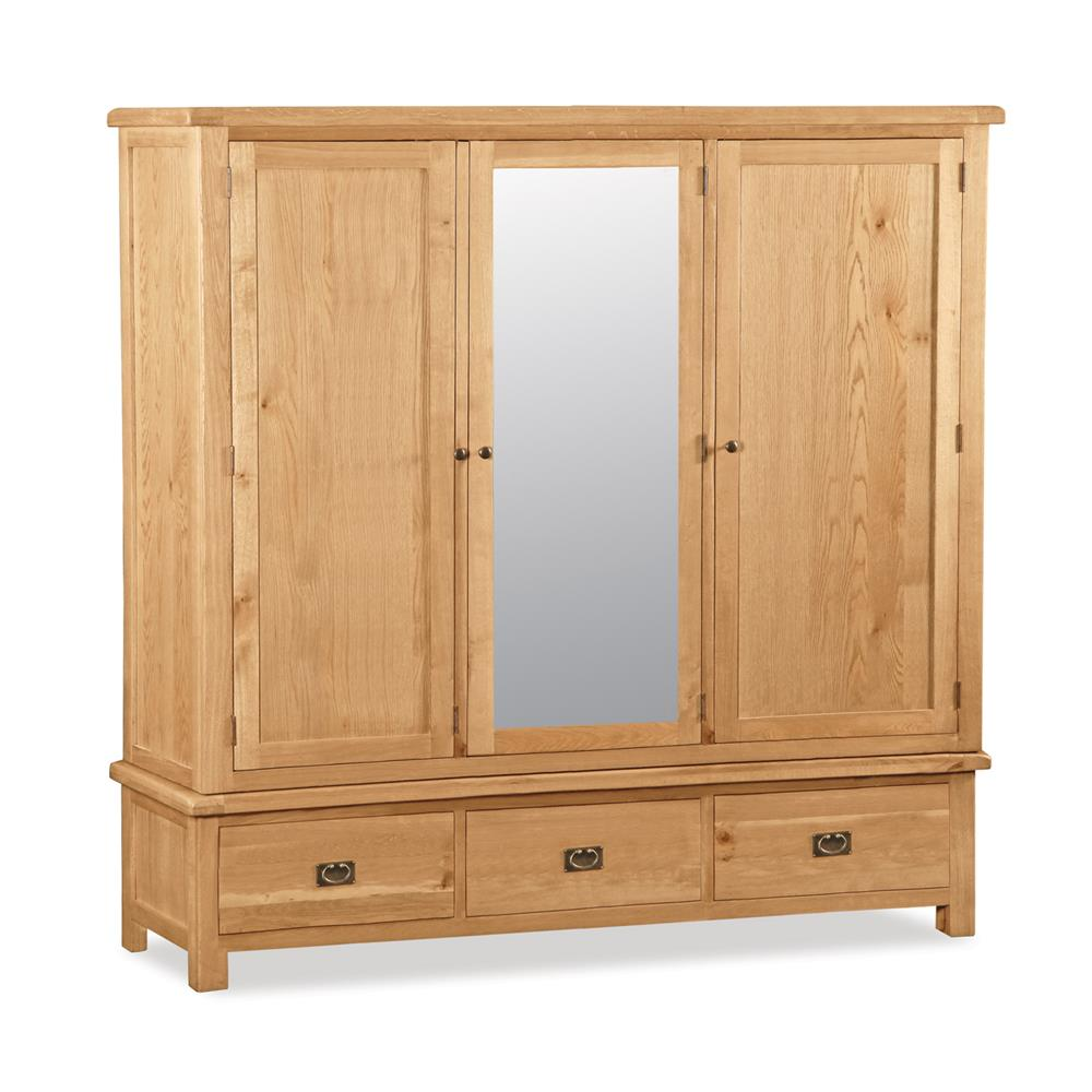 Rural Charm Extra Large Triple Wardrobe