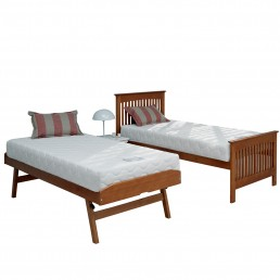 Relyon Juno Storabed with Open Coil Mattress Oak Finish