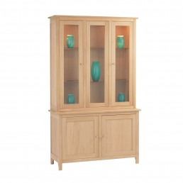 Naples Satin Tall Display Cabinet