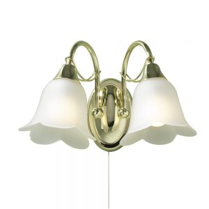 Dar Doublet 2 Light Wall Light  Brass