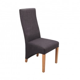 Roland Plain Linen Dining Chair Charcoal