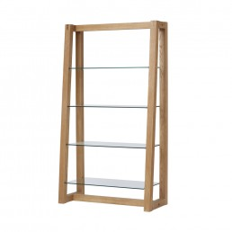 Royale Bookcase With Glass Shelves