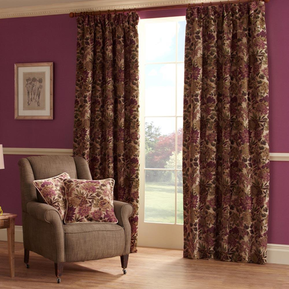 Lakeland Readymade Curtains Berry