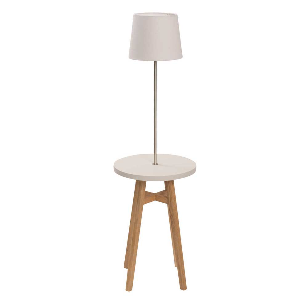 Kinsale Table with Lamp In Chalk White