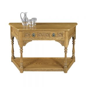 Old Charm Canted Console Table