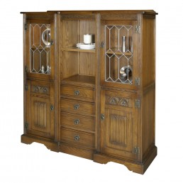 Old Charm Tall Recessed Sideboard