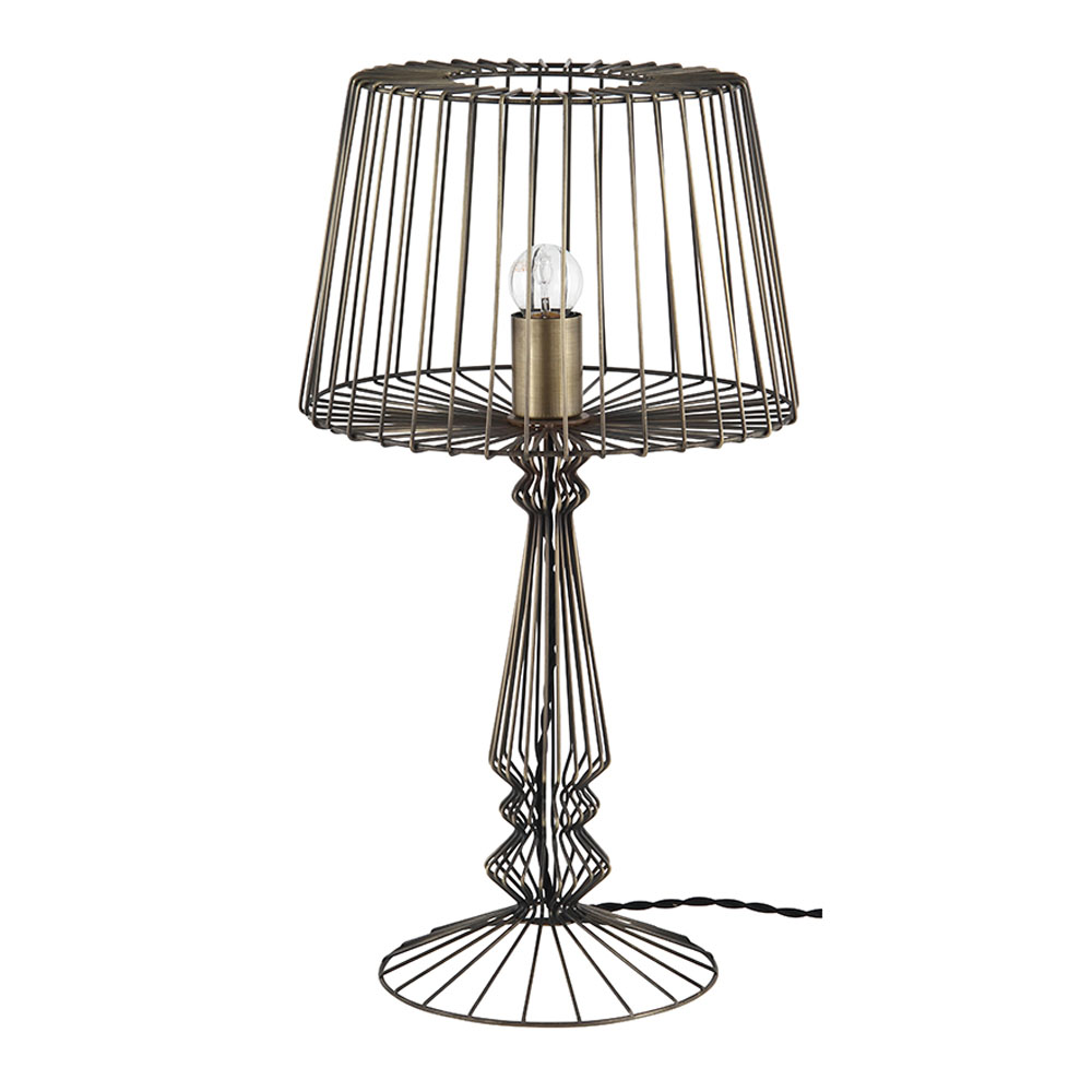 Industrial Wire Table Lamp