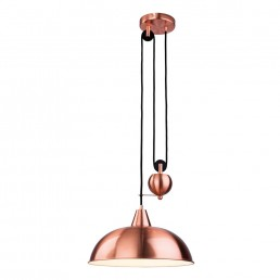 Century Rise & Fall Ceiling Light Brushed Copper