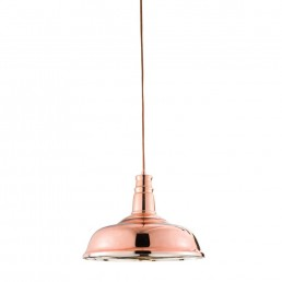 Endon Jackman Copper Plated Glass Pendant