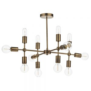 Dar Code 12 Light Pendant Gold